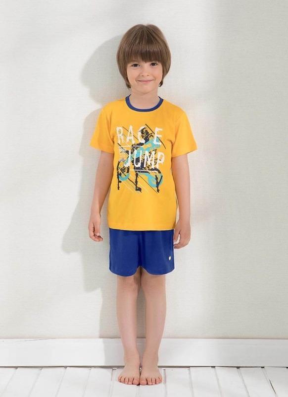 Erkek Çocuk Pijama Şort - Set 7644 - Sarı