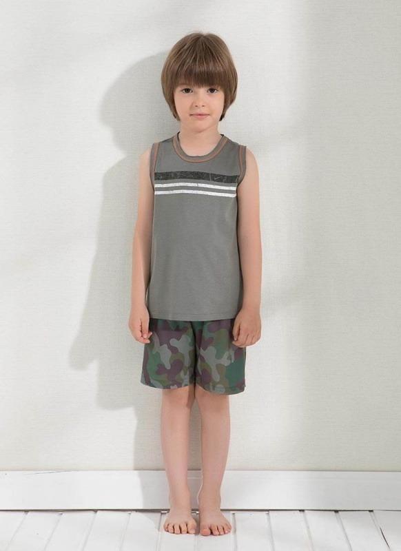 Erkek Çocuk Pijama Şort - Set 7647 - Haki