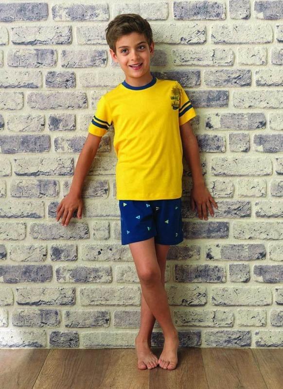 Erkek Çocuk Pijama Takımı 7515 - Sarı