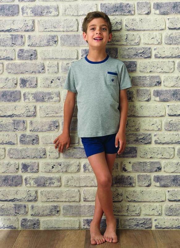 Erkek Çocuk Pijama Takımı 7520 - Gri Melanj