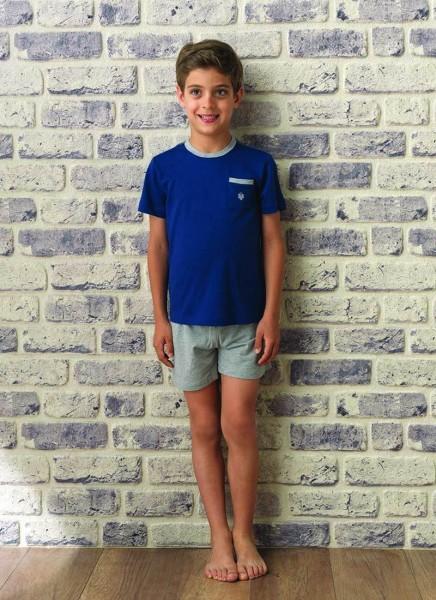Blackspade Erkek Çocuk Pijama Takımı 7520 - Lacivert
