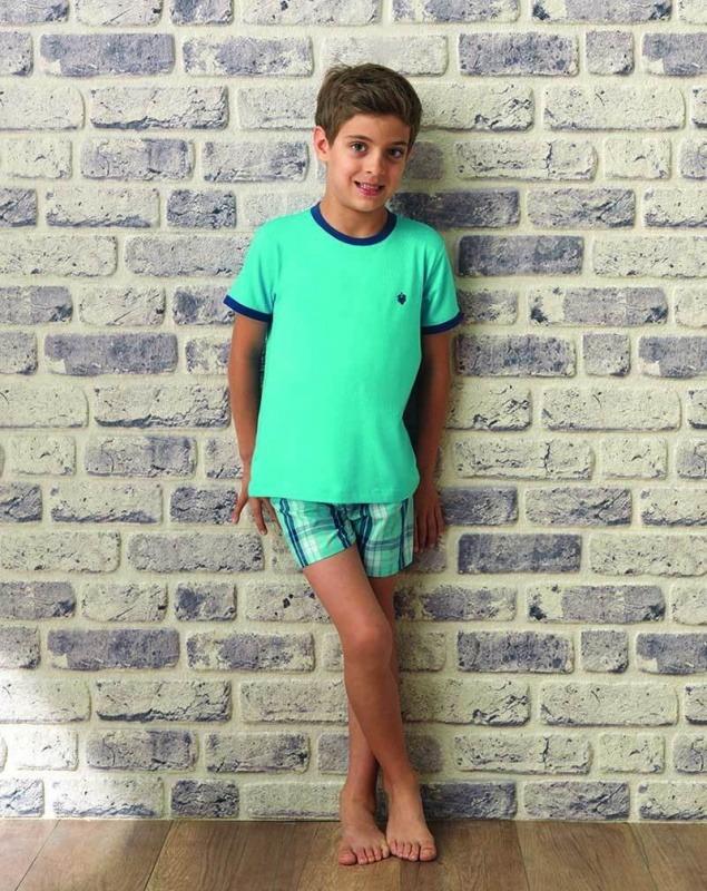 Erkek Çocuk Pijama Takımı 7521 - Turkuaz