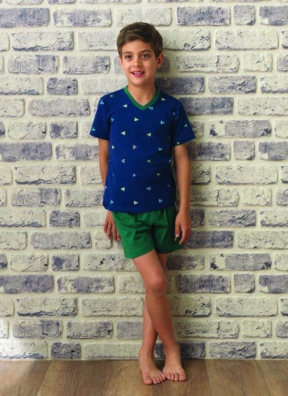 Erkek Çocuk Pijama Takımı 7523 - Flama Desenli