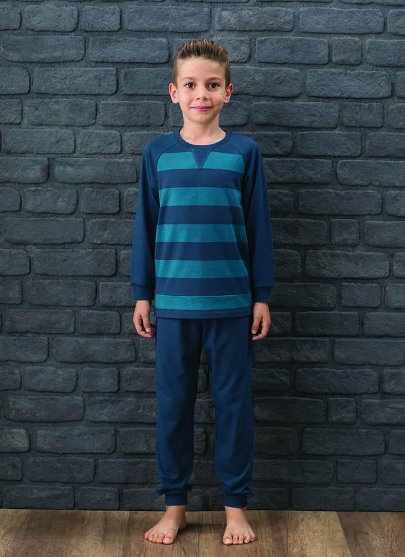 Erkek Çocuk Pijama Takımı 7564 - Yeşil