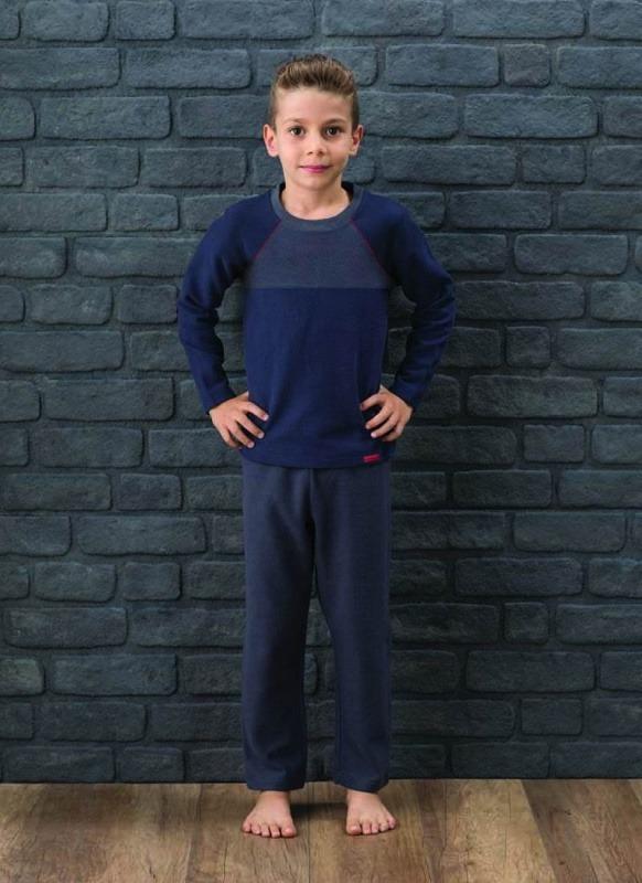 Erkek Çocuk Pijama Takımı 7565 - Siyah Antrasit