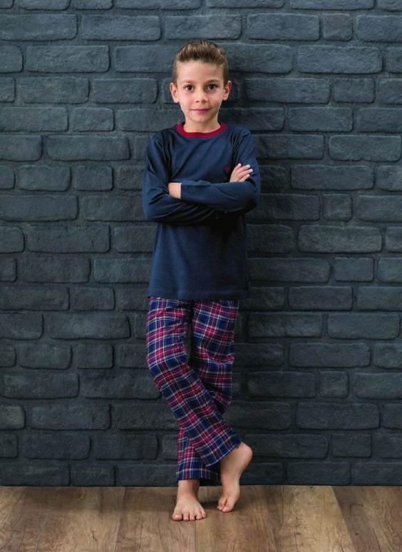 Erkek Çocuk Pijama Takımı 7572 - Lacivert