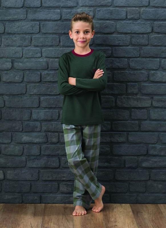 Erkek Çocuk Pijama Takımı 7574 - Haki