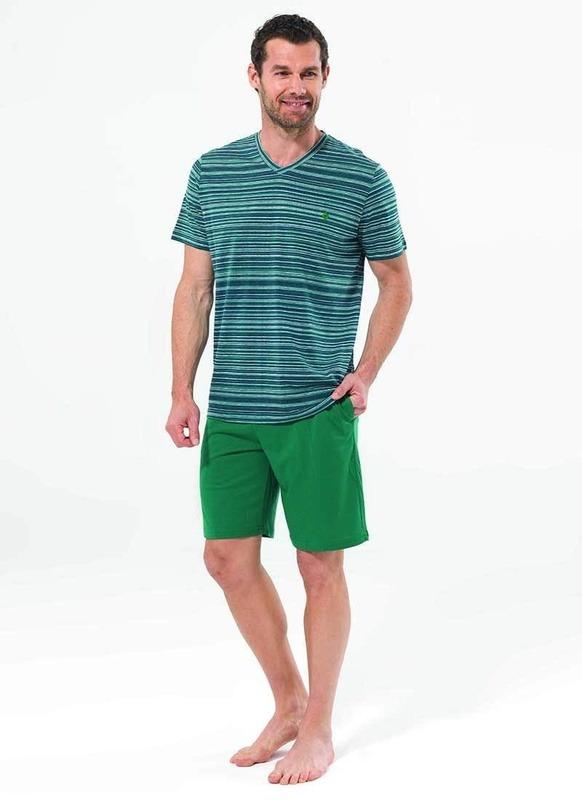 Erkek Pijama Takımı 7486 - Yeşil