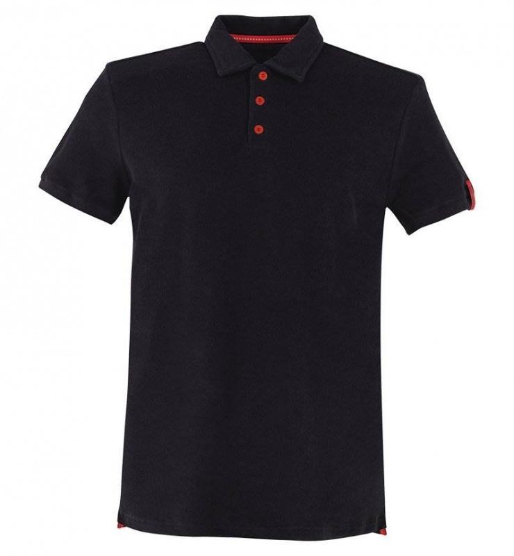 Erkek Polo Yaka T-Shirt - Havlu Kumaş 8400 - Siyah
