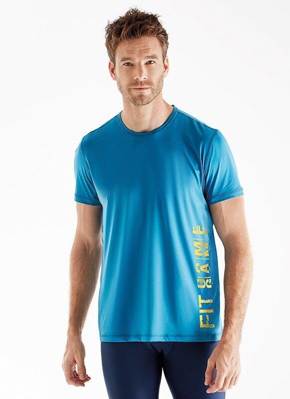 Erkek Spor Tişört 70104 - Mavi