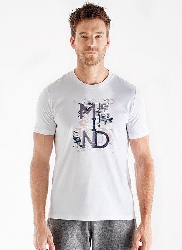 Erkek Spor Tişört 70135 - Beyaz
