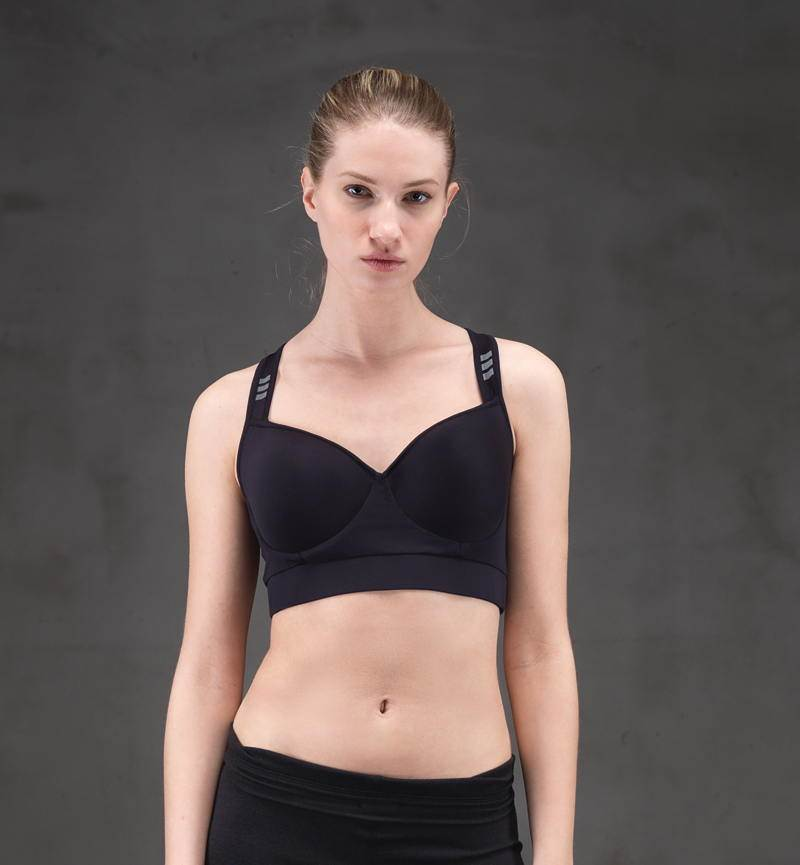 Kadın Active Spor Sütyen - 6689 - Siyah
