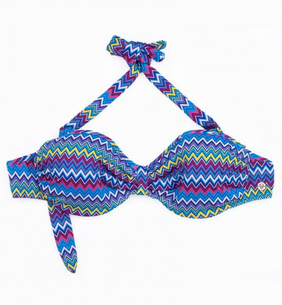 Blackspade Kadın Bikini Üst 8247 - Zigzag Desenli