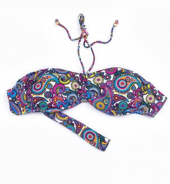 Blackspade Kadın Bikini Üst 8249 - Şal Desenli