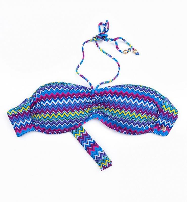 Kadın Bikini Üst 8249 - Zigzag Desenli