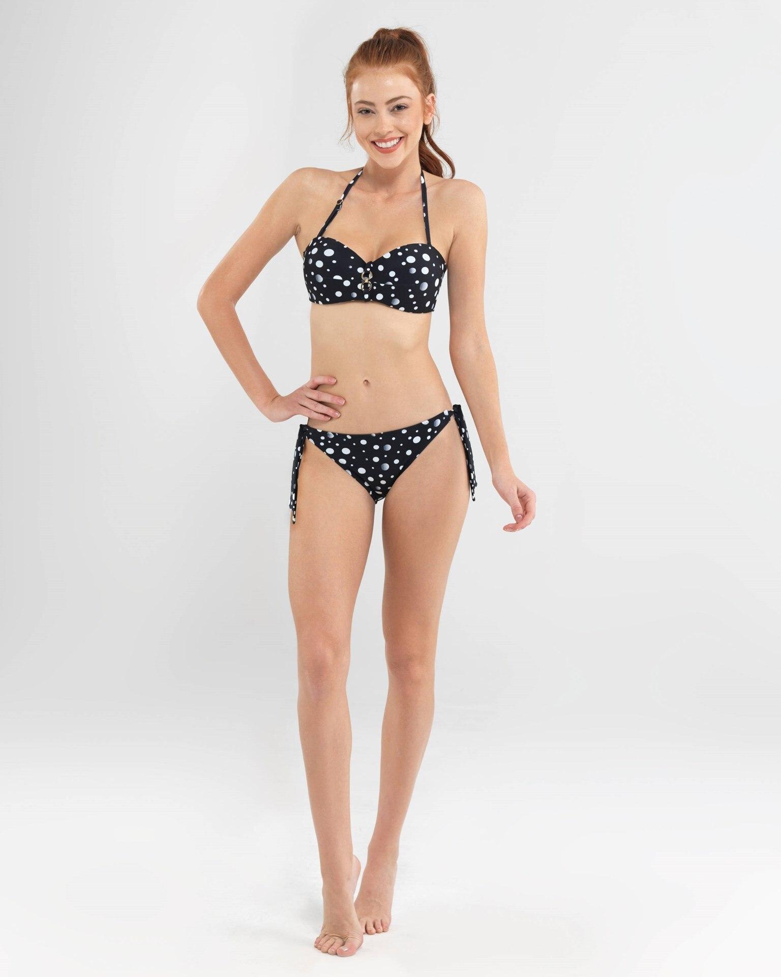 Kadın Bikini Üst - 8586 - Puantiye Baskılı