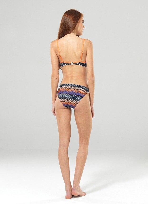 Kadın Bikini Üst 8869 - Zigzag Baskılı - Thumbnail