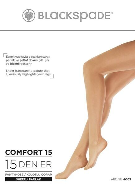 Blackspade - Kadın Külotlu Çorap 15 Denye Çorap 4003 - Koyu Ten