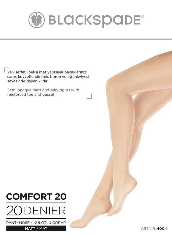 Kadın Külotlu Çorap 20 Denye 4004 - Siyah