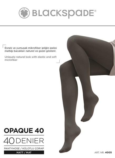 Blackspade - Kadın Külotlu Çorap 40 Denye 4005 - Siyah