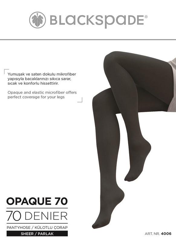 Kadın Külotlu Çorap 70 Denye 4006 - Siyah