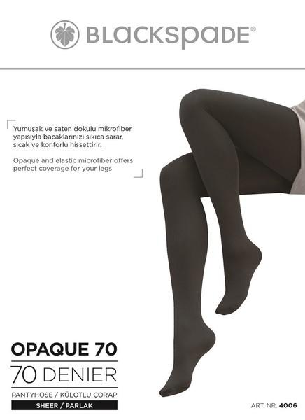 Blackspade - Kadın Külotlu Çorap 70 Denye 4006 - Siyah