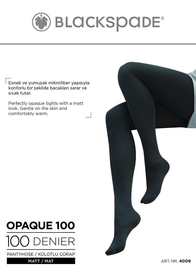 Kadın Külotlu Çorap 100 Denye 4009 - Siyah