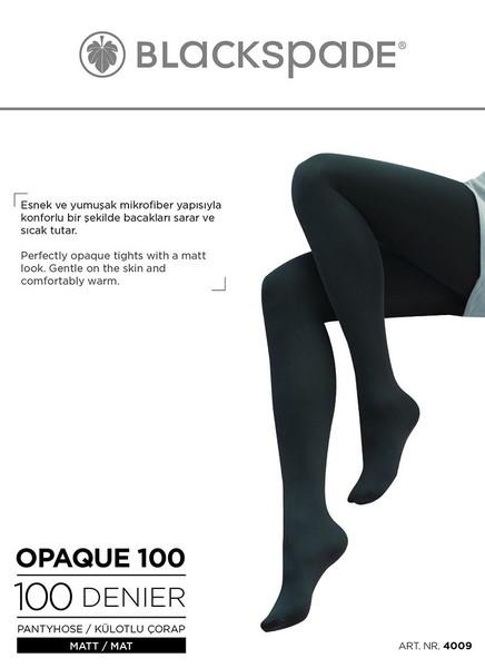 Blackspade - Kadın Külotlu Çorap 100 Denye 4009 - Siyah