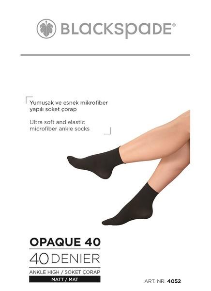 Blackspade Kadın İnce Soket Çorap 4052 - Siyah