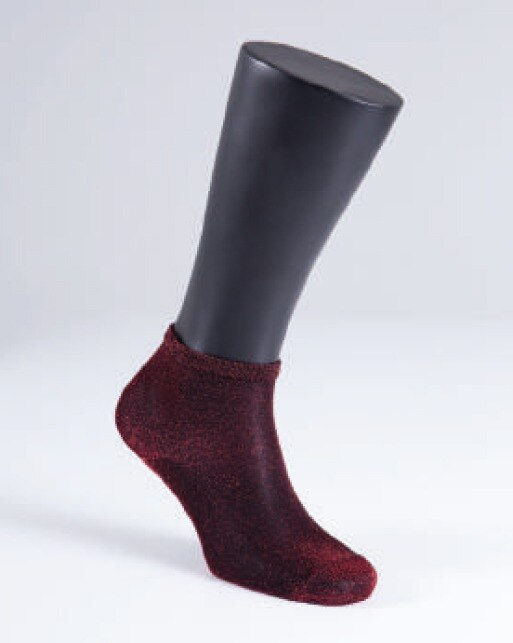 Kadın Çorap Simli 9913 - Siyah Kırmızı