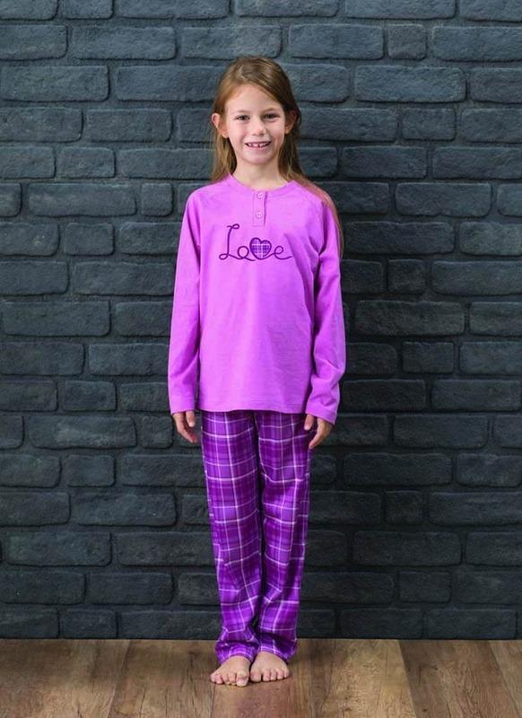 Kadın Pijama Takımı 6188 - Lila