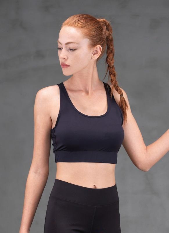 Kadın Spor Sütyen - 6872 - Siyah