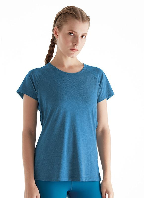 Kadın Spor Tişört 70061 - Mavi