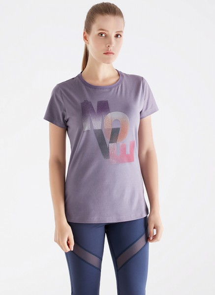Blackspade Kadın Spor Tişört 70122 - Krem