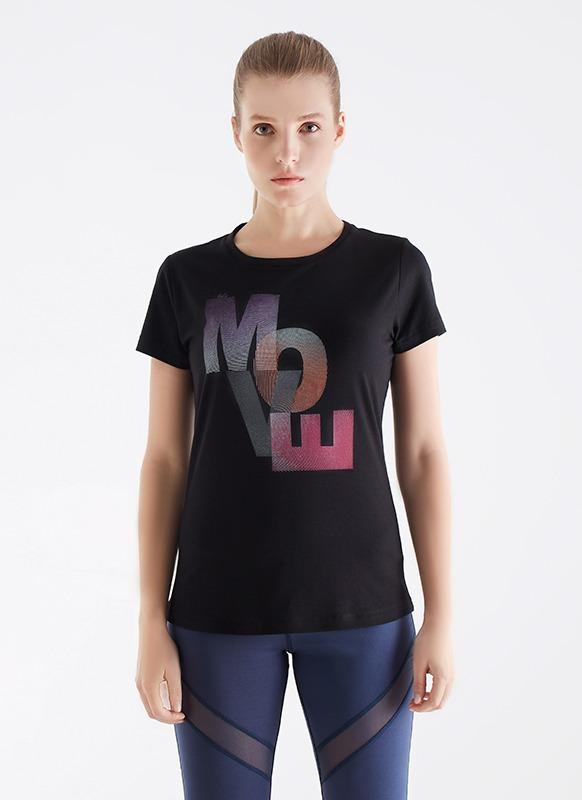 Kadın Spor Tişört 70122 - Siyah
