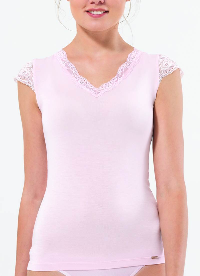 Kadın T-Shirt 1348 - Pembe