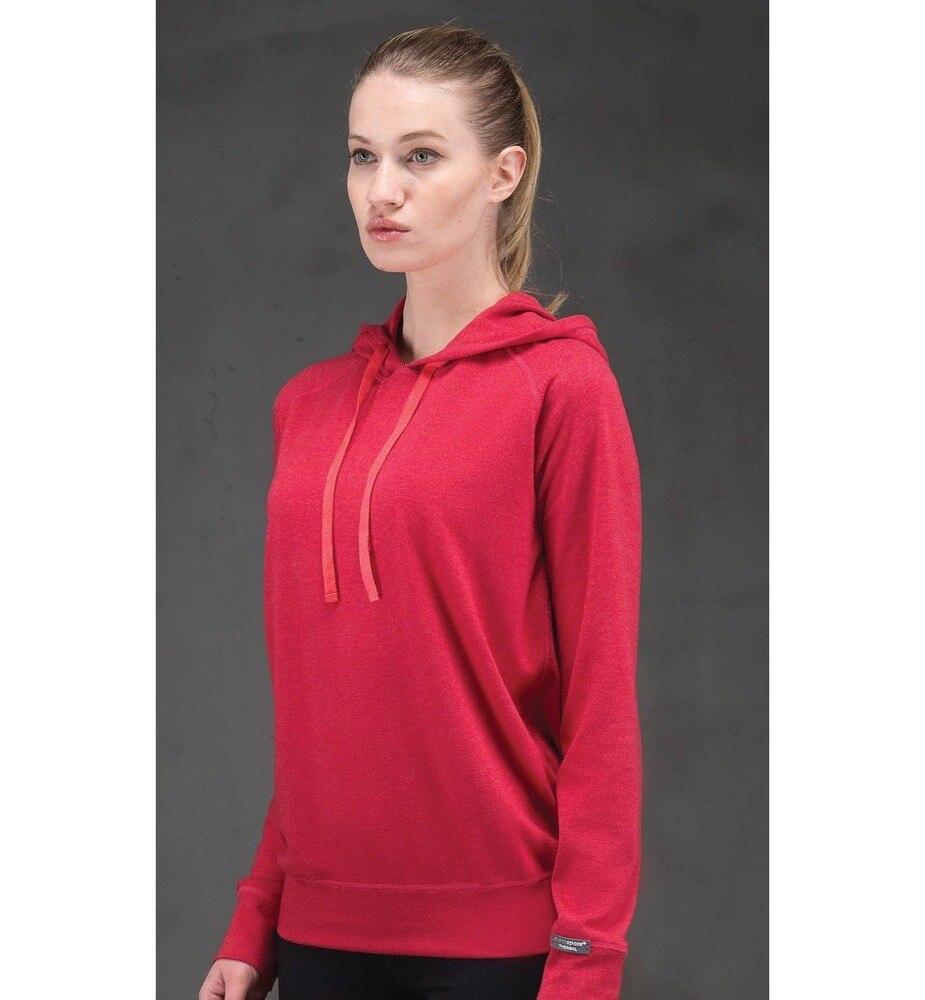Kadın Termal Kapşonlu Sweatshirt 2. Seviye 5938 - Kırmızı