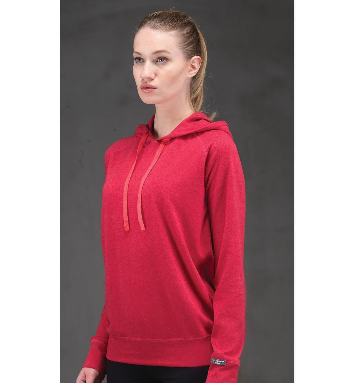 Blackspade Kadın Termal Kapşonlu Sweatshirt 2. Seviye 5938 - Kırmızı