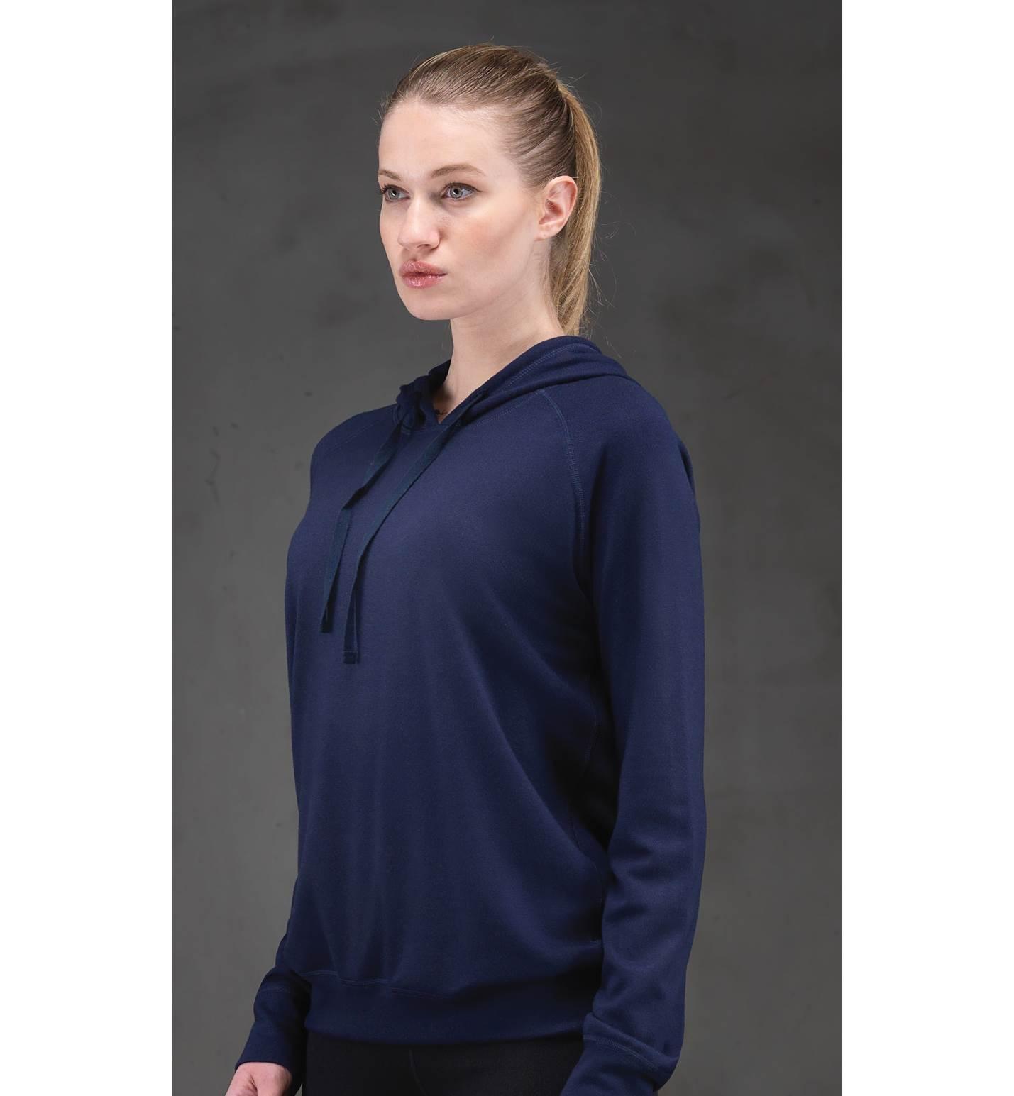 Kadın Termal Kapşonlu Sweatshirt 2. Seviye 5938 - Lacivert