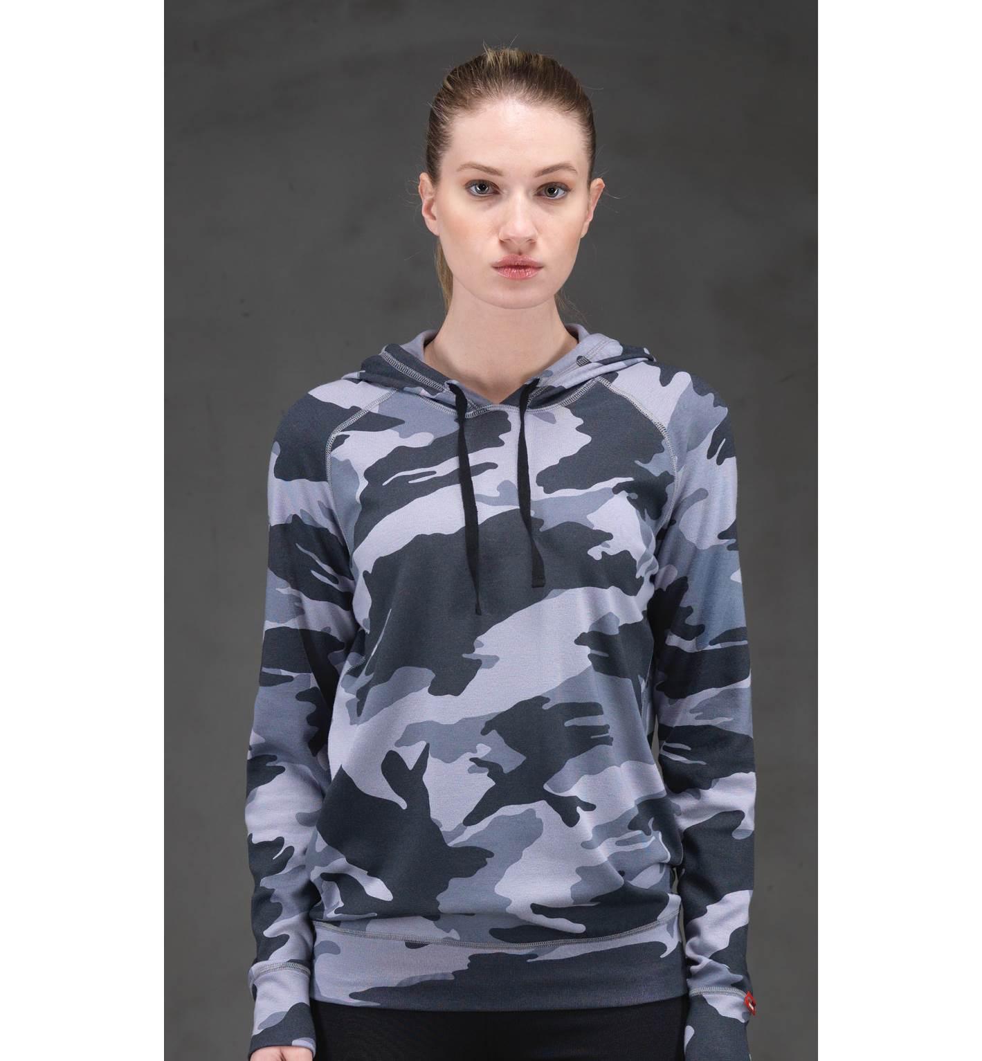 Kadın Termal Kapşonlu Sweatshirt 2. Seviye 6194 - Antrasit