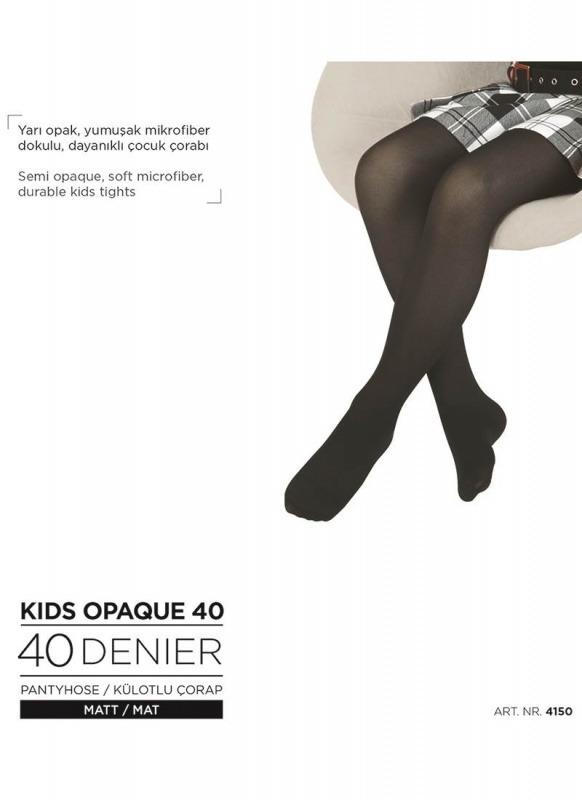 Kız Çocuk Külotlu Çorap 4150 - Beyaz