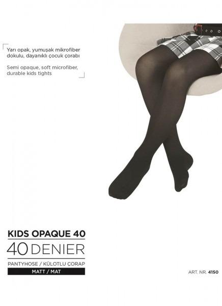 Blackspade Kız Çocuk Külotlu Çorap 4150 - Siyah