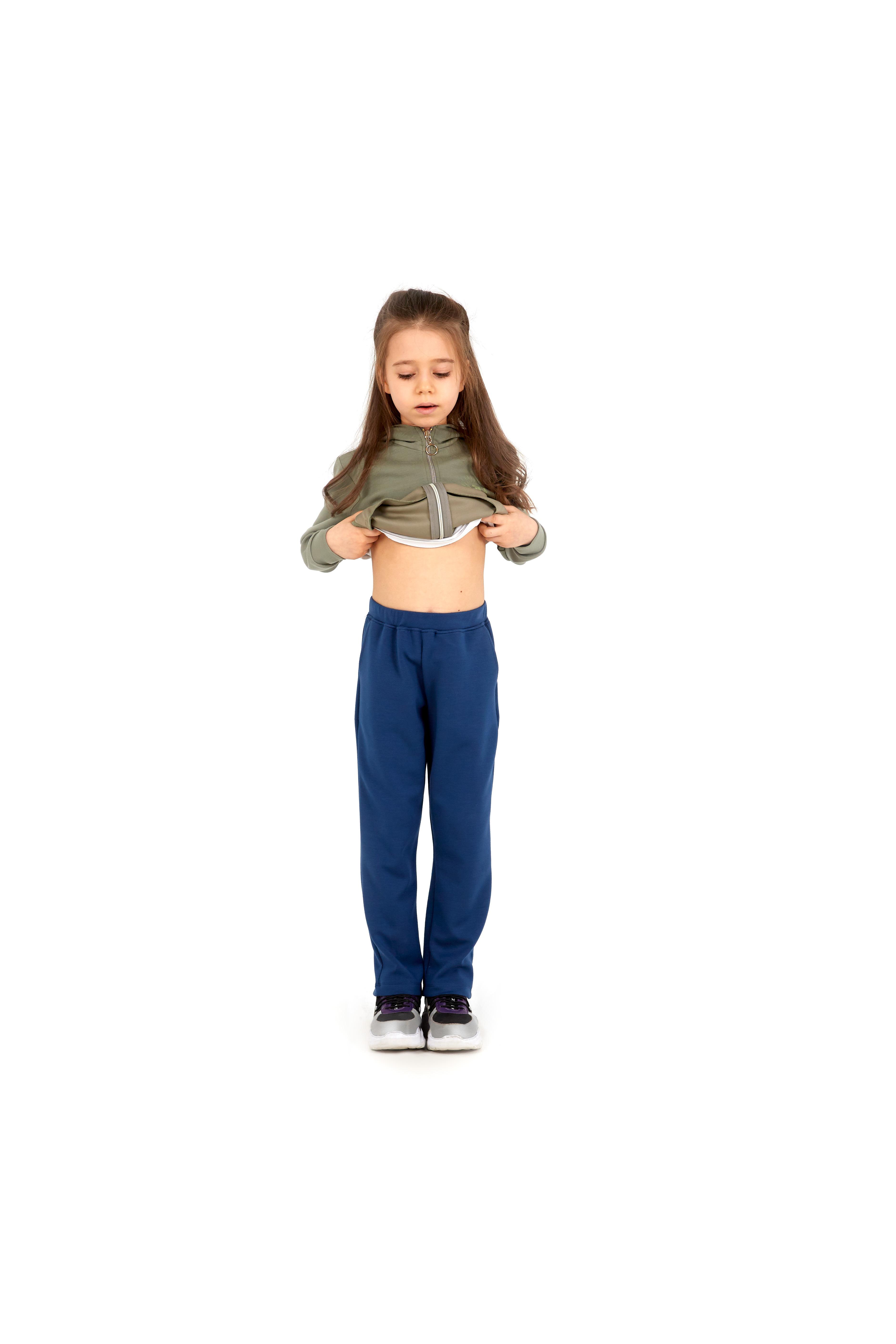 Kız Çocuk Eşofman Altı 60055 - Lacivert - Thumbnail