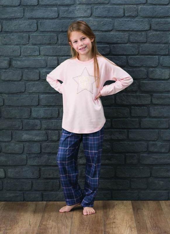 Kız Çocuk Pijama Takımı 6134 - Pudra