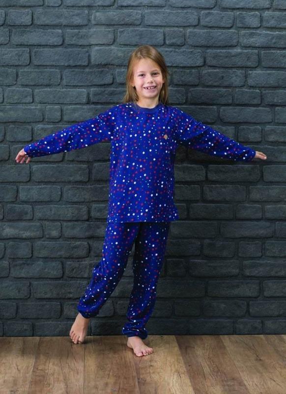 Kız Çocuk Pijama Takımı 6137 - Yıldız Baskılı