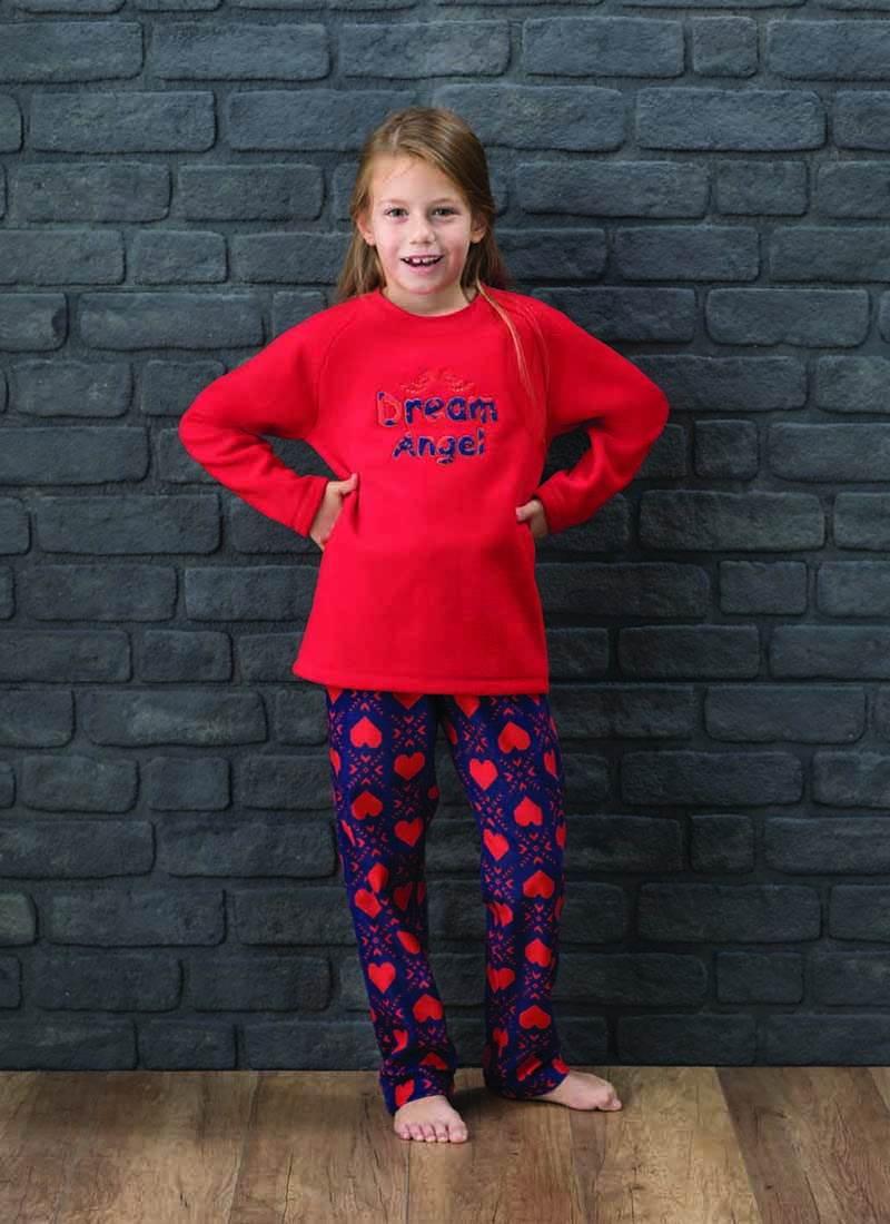 Kız Çocuk Pijama Takımı 6138 - Kırmızı