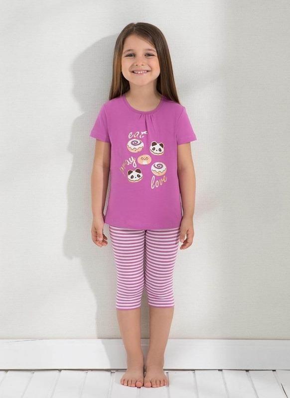 Kız Çocuk Pijama Takımı 6289 - Fuşya