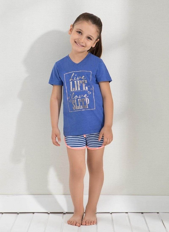 Kız Çocuk Şoırt - Set 6304 - Saks