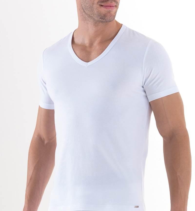 Erkek T-Shirt V Yaka Mood 9321 - Beyaz