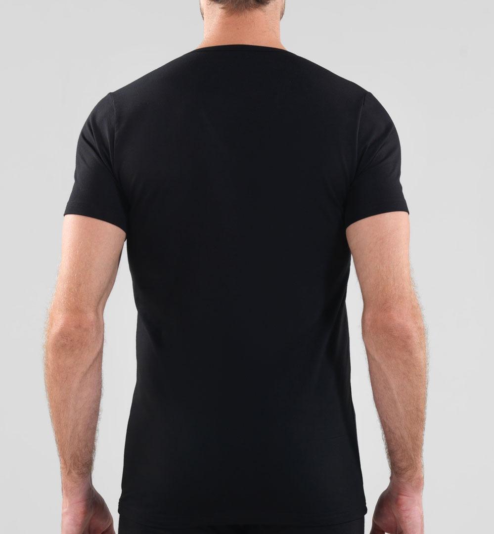 Erkek T-Shirt V Yaka Mood 9321 - Siyah - Thumbnail